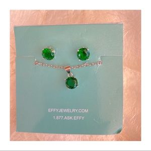 New Effy Emerald Green Necklace & Earrings